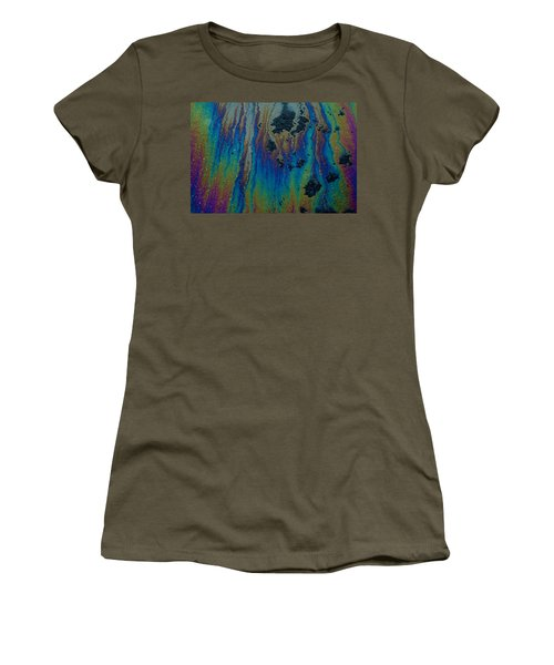 Oil On Pavement Aurora Borealis Women's T-Shirt (Athletic Fit)