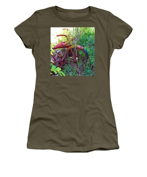 Old Bike And Weeds Women's T-Shirt