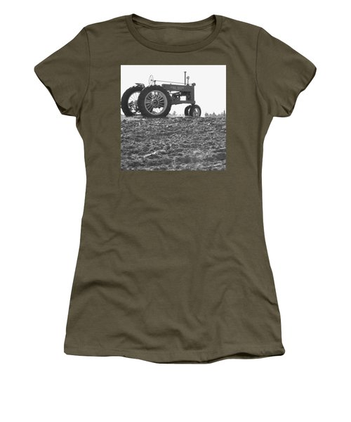 Old Tractor II In Black-and-white Women's T-Shirt