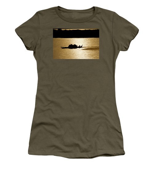 On Golden Waters Women's T-Shirt (Athletic Fit)