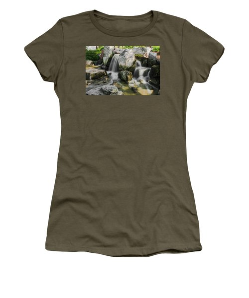 Osaka Garden Waterfall Women's T-Shirt (Athletic Fit)