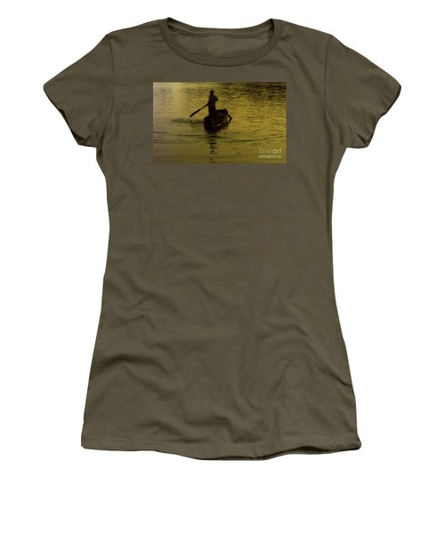 Women's T-Shirt (Junior Cut) featuring the photograph Paddle Boy by Lydia Holly