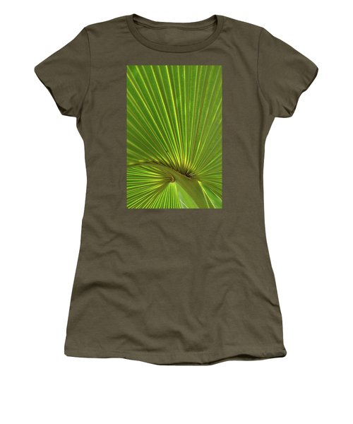 Women's T-Shirt (Junior Cut) featuring the photograph Palm Leaf by JD Grimes