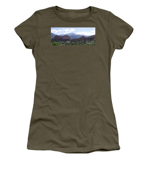 Panoramic Garden Of The Gods Women's T-Shirt (Athletic Fit)