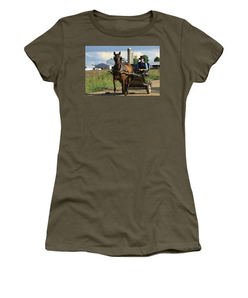 Peaceful Road Women's T-Shirt (Athletic Fit)