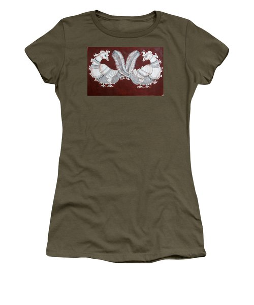 Peacocks Women's T-Shirt (Athletic Fit)
