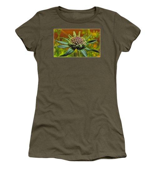 Women's T-Shirt (Junior Cut) featuring the photograph Pinchshin Bud by Debbie Portwood