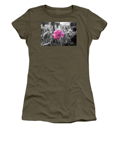 Pink Carnation Women's T-Shirt (Athletic Fit)