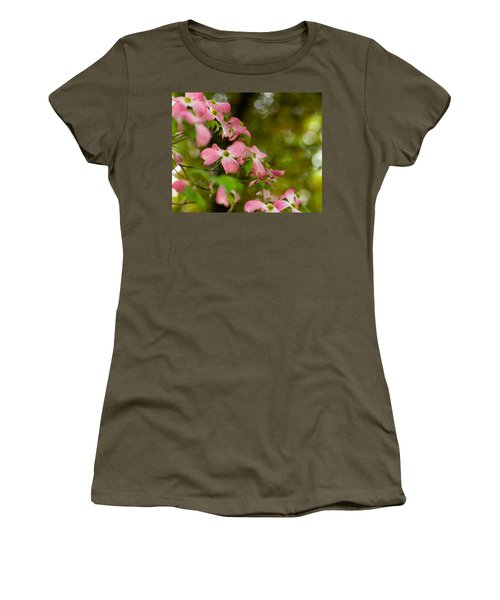 Pink Dogwood Blooms Women's T-Shirt