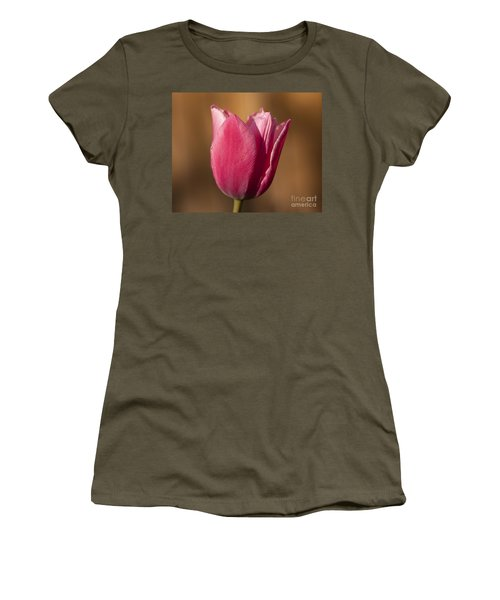 Women's T-Shirt (Junior Cut) featuring the photograph Pink by Eunice Gibb