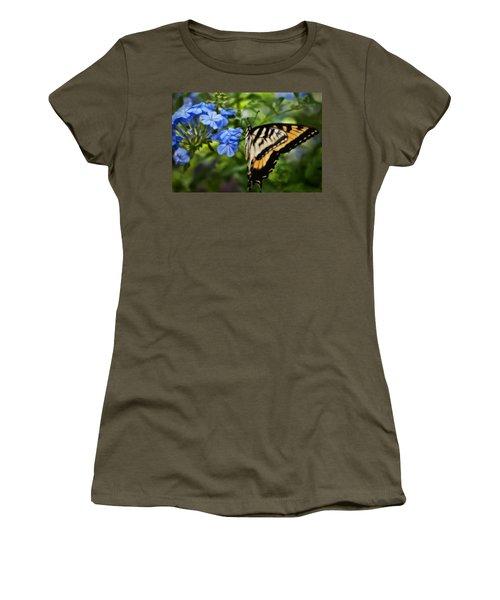 Plumbago And Swallowtail Women's T-Shirt