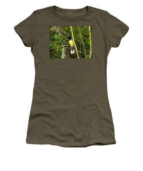 Women's T-Shirt (Junior Cut) featuring the photograph Plush-crested Jay by David Gleeson