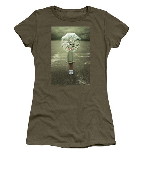 Polka Dotted Umbrella Women's T-Shirt