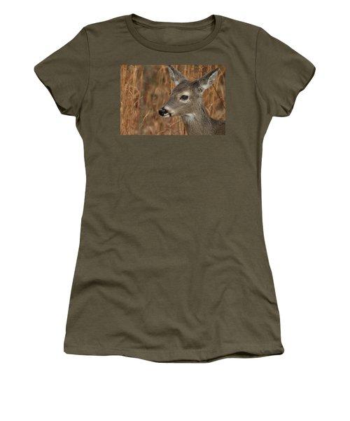 Portrait Of  Browsing Deer Women's T-Shirt