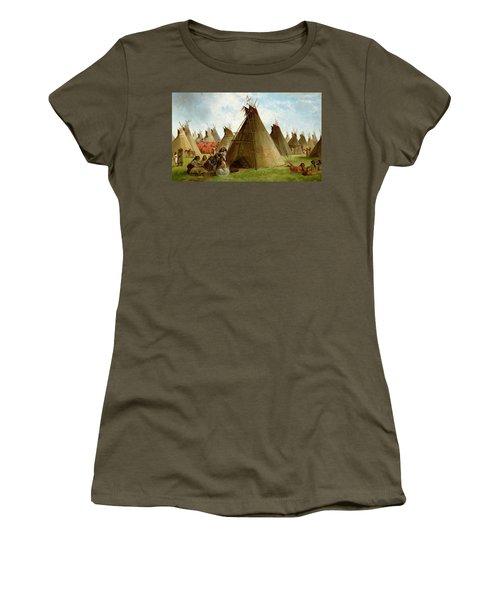 Prairie Indian Encampment Women's T-Shirt