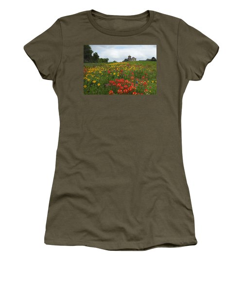 Presidio La Bahia 1 Women's T-Shirt (Junior Cut) by Susan Rovira