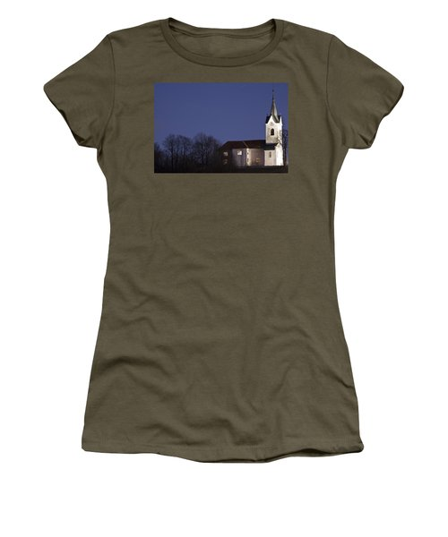 Prezganje Church At Dusk Women's T-Shirt