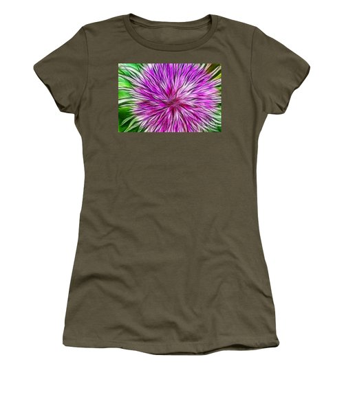 Purple Flower Fractal Women's T-Shirt