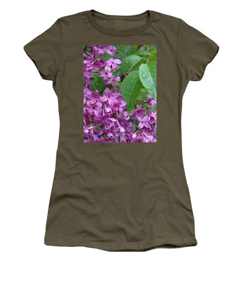 Purple Lilac Women's T-Shirt (Athletic Fit)