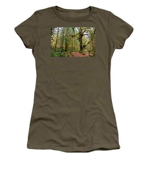 Rain Forest In Fall Women's T-Shirt (Athletic Fit)