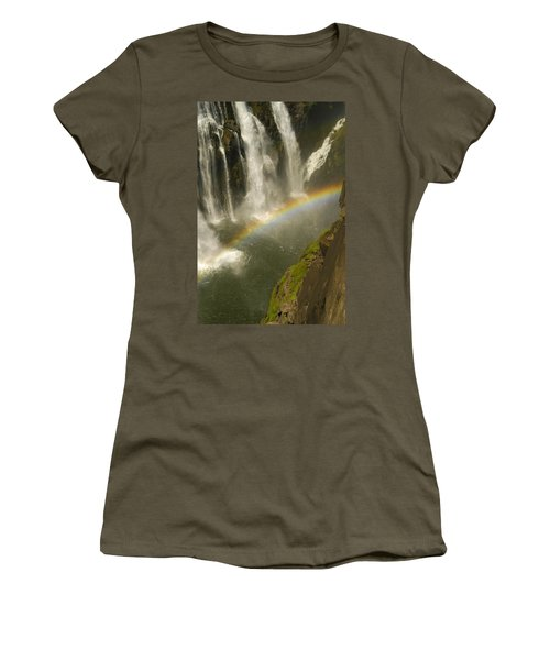 Rainbow Falls Women's T-Shirt (Athletic Fit)
