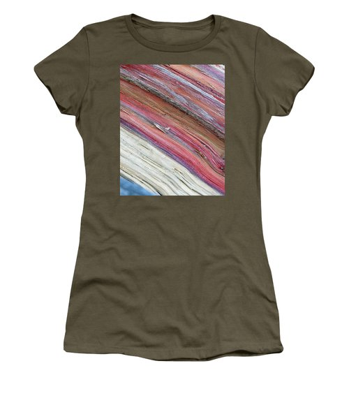 Women's T-Shirt (Junior Cut) featuring the photograph Rainbow Wood by Lisa Phillips