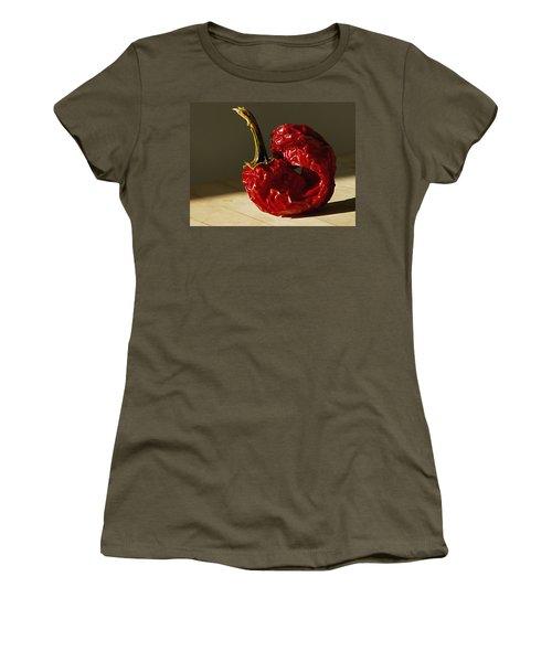 Women's T-Shirt (Junior Cut) featuring the photograph Red Pepper by Joe Schofield