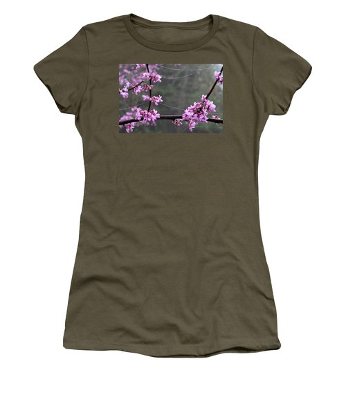 Redbud With Webs And Dew Women's T-Shirt
