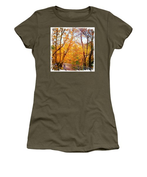 Reed College Canyon Bridge To Campus Women's T-Shirt (Athletic Fit)