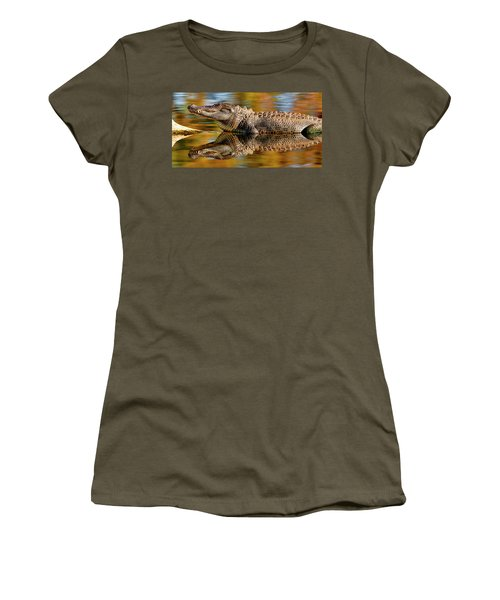 Relection Of An Alligator Women's T-Shirt