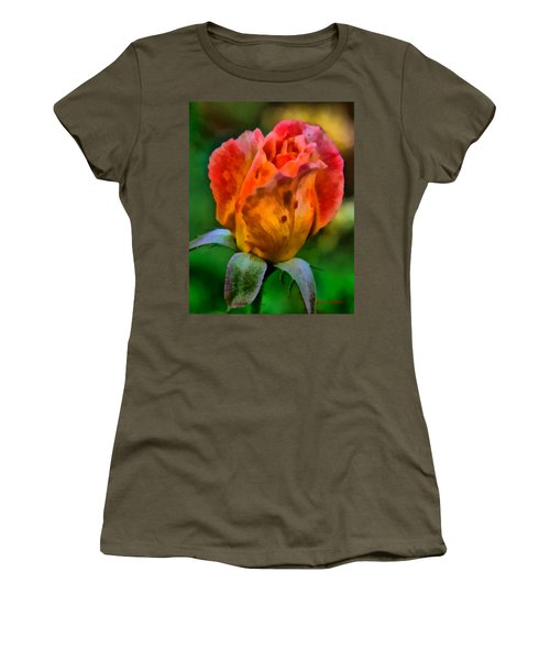 Rose Women's T-Shirt (Junior Cut) by Lynne Jenkins