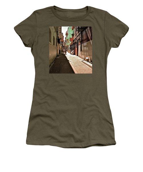 San Fran Chinatown Alley Women's T-Shirt (Junior Cut) by Bill Owen
