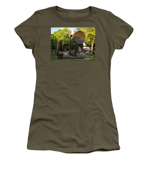 Women's T-Shirt (Junior Cut) featuring the photograph Seattle Sculpture by Chalet Roome-Rigdon