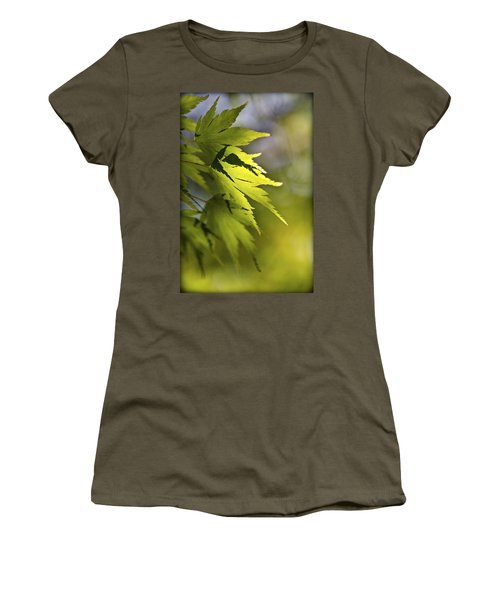 Women's T-Shirt (Junior Cut) featuring the photograph Shades Of Green And Gold. by Clare Bambers