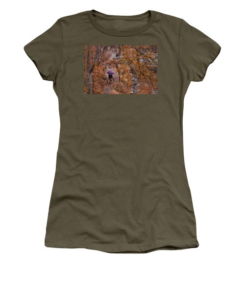 Women's T-Shirt (Junior Cut) featuring the photograph Alone Together by Tom Gort