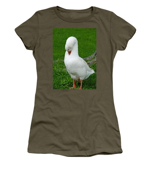Women's T-Shirt (Junior Cut) featuring the photograph Shy Goose by Lisa Phillips