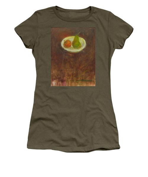 Women's T-Shirt (Junior Cut) featuring the painting Side By Side by Kathleen Grace