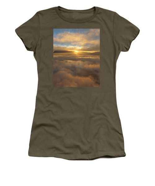 Silver Lake Sunrise Women's T-Shirt (Junior Cut) by Mark Greenberg