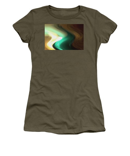 Women's T-Shirt (Junior Cut) featuring the mixed media Sine Of Ninety by Terence Morrissey