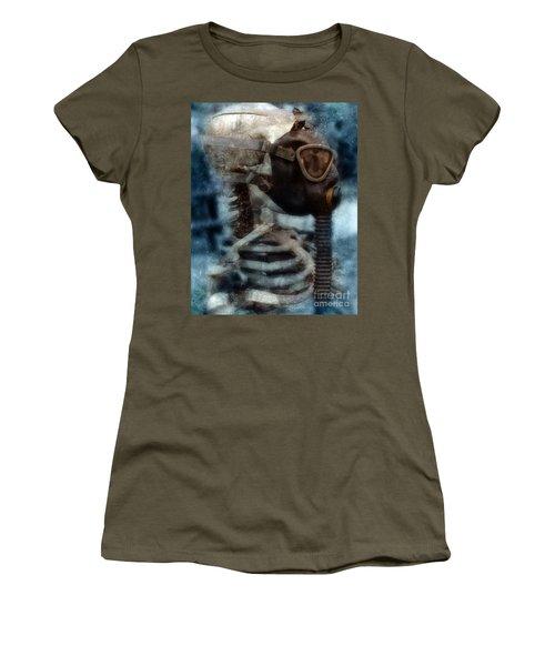 Skeleton In Gas Mask Women's T-Shirt
