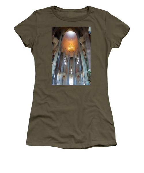 Skylight At Gaudi Cathedral Women's T-Shirt