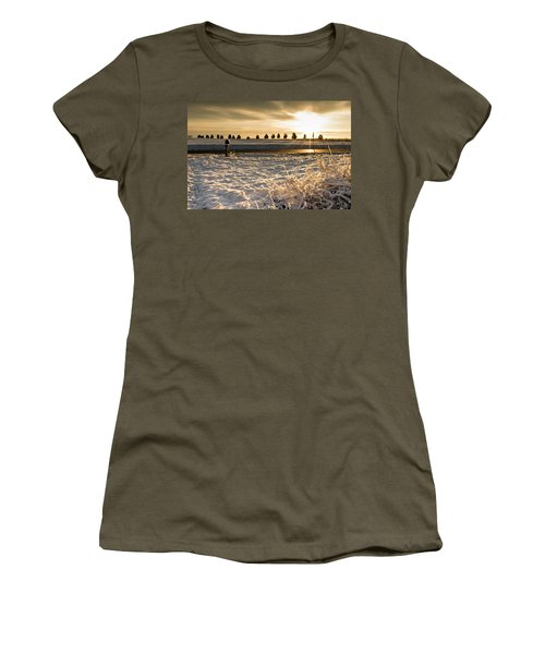 Snowy Sunrise Women's T-Shirt