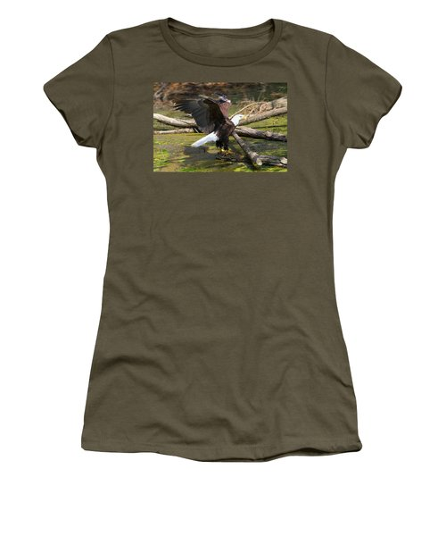 Women's T-Shirt (Junior Cut) featuring the photograph Soaring Eagle by Elizabeth Winter