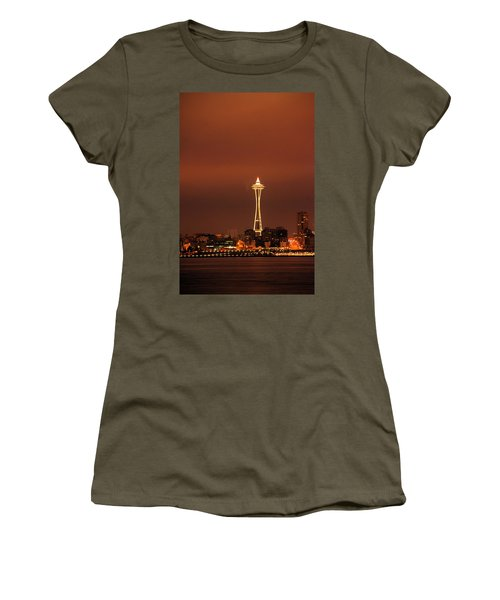 Space Needle Morning Women's T-Shirt (Athletic Fit)
