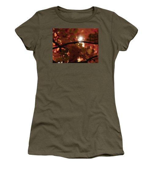 Women's T-Shirt (Junior Cut) featuring the photograph Spotlight On Fall by Cheryl Baxter