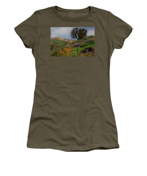 Spring In Santa Barbara Women's T-Shirt (Junior Cut) by Lynn Bauer