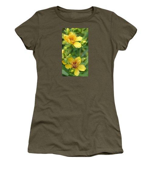 Women's T-Shirt (Junior Cut) featuring the photograph St John's-wort by Bruce Bley