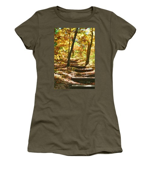 Women's T-Shirt (Junior Cut) featuring the photograph Stairway To Heaven by Peggy Franz