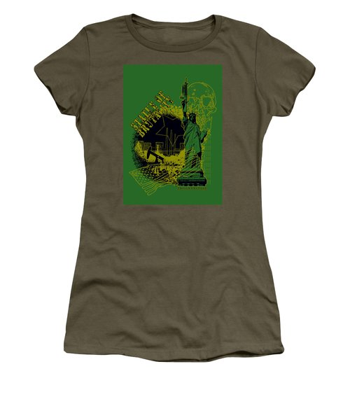 Statue Of Brutality  Women's T-Shirt (Junior Cut) by Tony Koehl