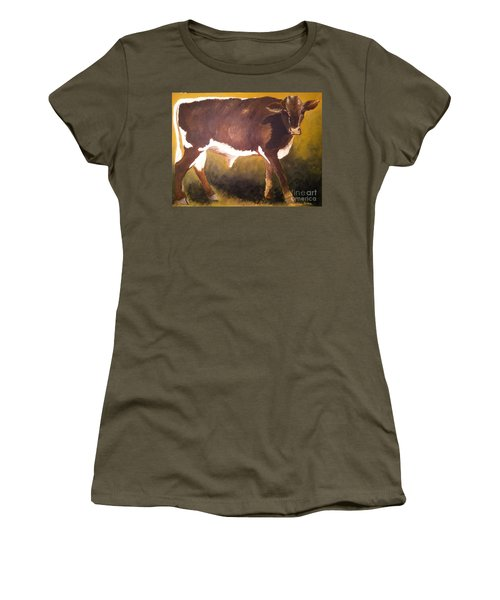 Steer Calf Women's T-Shirt (Athletic Fit)